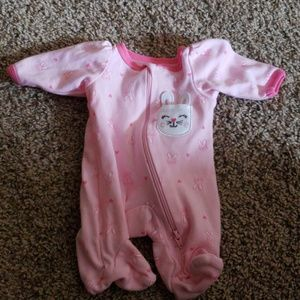 Pink preemie outfit